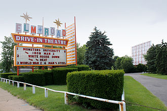 Drive-in theater - Classic googie architecture at this Ohio drive-in