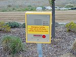 Emergency call box at South Jordan Parkway station, Apr 16.jpg