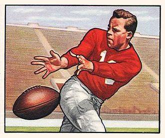 Emil Sitko - Sitko on a 1950 Bowman football card