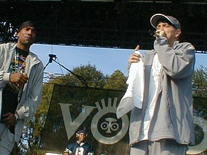 Voodoo Experience - Rapper Eminem performs early in his career at Voodoo 2000