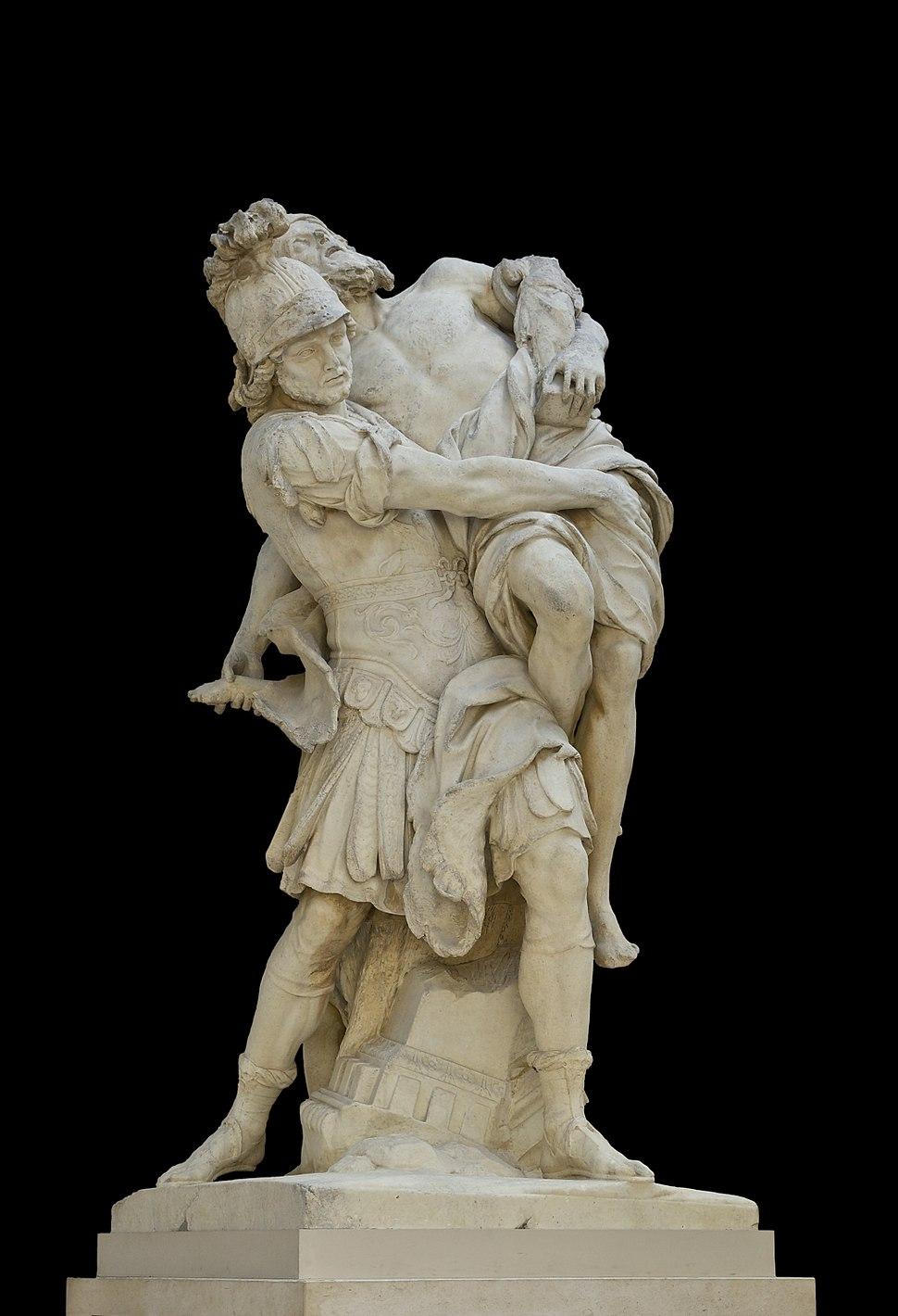 Enée & Anchise Lepautre Louvre M.R.2028 noir