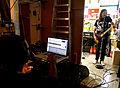 Engineer J Clark, with Bassist Steven McDonald, Redd Kross at Room 205, 2012-11-29.jpg