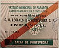 Entrada partido Pontevedra CF - Leganés B, Pasarón 30-11-1997.jpg