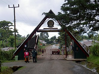 Kilimanjaro National Park - The entrance to Kilimanjaro National Park.