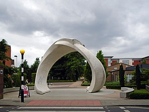 Liverpool Hope University - Image: Entrance to west side of Hope Park, Childwall