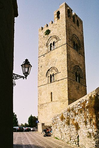 Erice - Tower of the Chiesa Madre.