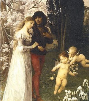 Ernst Klimt - Image: Ernst Klimt Vor der Hochzeit