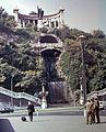 Erzsébet híd budai hídfő, Szent Gellért szobor. Fortepan 742.jpg