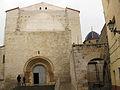 Església Arxiprestal de Sant Mateu, portada romànica i cúpula.jpg