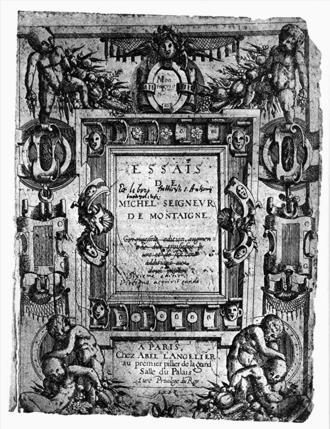 Essays (Montaigne) - Cover, circa 1588.