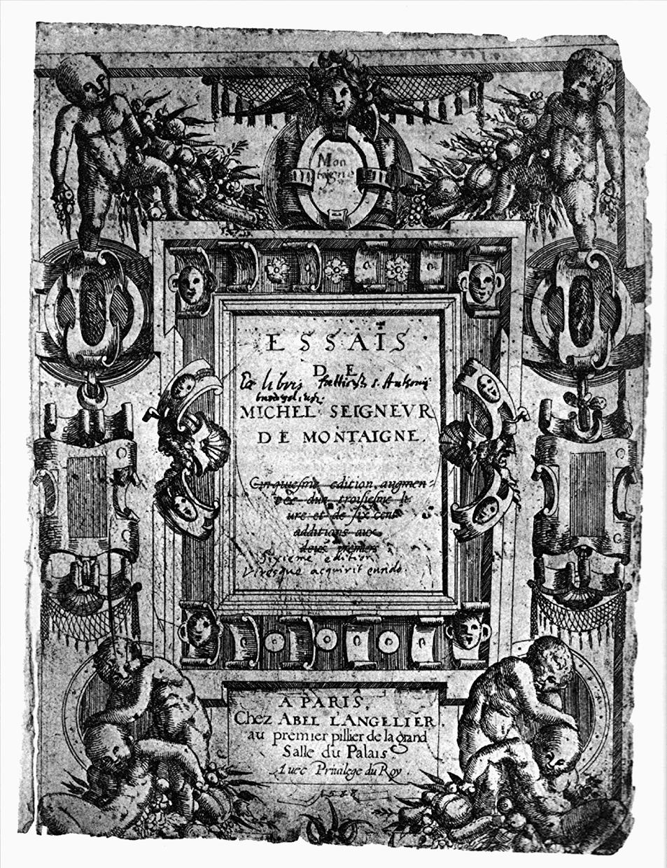 Essais Titelblatt (1588)