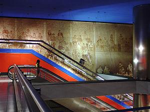Estacion de Reyes Catolicos-mural-Sanse