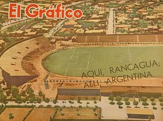 1962 FIFA World Cup - Image: Estadio Rancagua (Chile) mayo de 1962