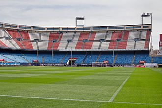 Vicente Calderón Stadium - South end stand view of the stadium.