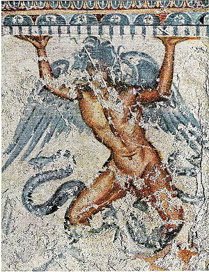 Etruscan mythology - Etruscan mural of Typhon, from Tarquinia
