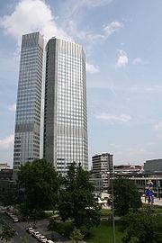 Το κτίριο της Ε.Κ.Τ. στην Φρανκφούρτη