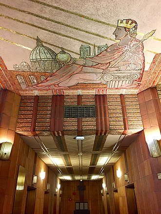 32 Avenue of the Americas - Image: Europe Mosaic and Elevator Hall AT&T Long Distance Building Lobby
