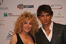 Gabriel Garko con Eva Grimaldi al Roma Fiction Fest 2009
