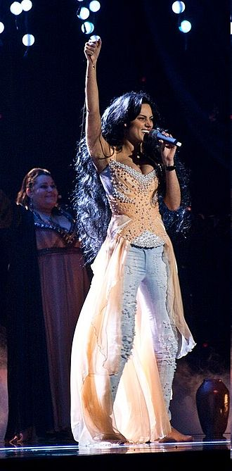 Armenia in the Eurovision Song Contest - Image: Eva Rivas May 2010 Semifinal
