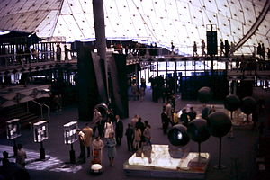 Frei Otto - Interior view, West Germany Pavilion, Expo 67, Montreal Canada