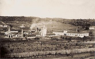 Economy of the Empire of Brazil - Iron Factory in Sorocaba, province of São Paulo, 1884.