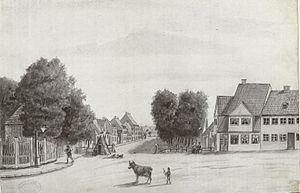Fælledvej - Fælledvej in c. 1830