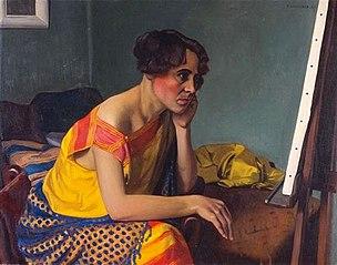 Femme au chevalet