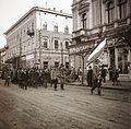 Fő tér (Piata Trandafirilor), szemben a Bolyai utca. Fortepan 83899.jpg