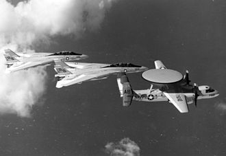 VAW-125 - Aircraft from CVW-1 in flight, including a VAW-125 E-2C Hawkeye