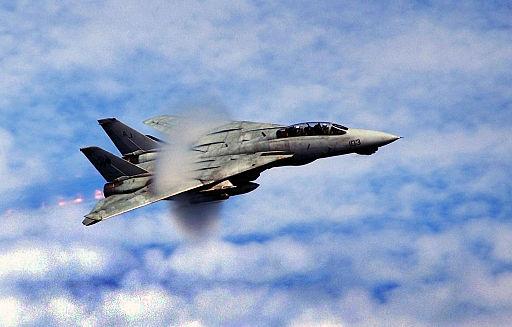 F-14 breaks the sound barrier
