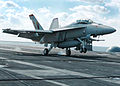 F-A-18F Super Hornet landing on carrier.jpg