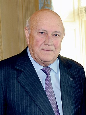 Deputy President of South Africa - Image: F. W. de Klerk 2012