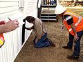 FEMA - 33788 - County building inspector at a FEMA supplied mobile home in California.jpg