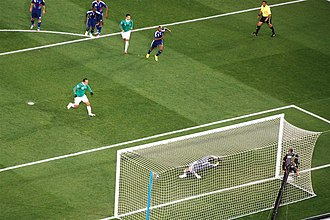 Mexico national football team - Cuauhtémoc Blanco converting his penalty kick against France at the 2010 FIFA World Cup.