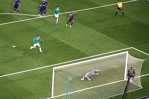 Cuauhtemoc Blanco converting his penalty kick against France at the 2010 FIFA World Cup. FIFA World Cup 2010 France Mexico.jpg