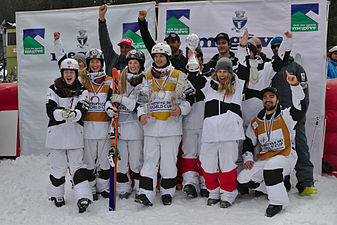 FIS Moguls World Cup 2015 Finals - Megève - 20150315 - Team Canada 1.jpg