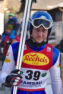 Bernhard Gruber Austrian Nordic combined skier