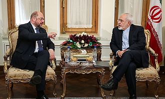 Martin Schulz - Schulz meeting with Iranian Foreign Minister Mohammad Javad Zarif in Tehran