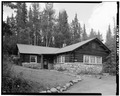 FRONT, LOOKING NORTHEAST - Mount McKinley Headquarters, Employee Residence, Cantwell, Denali Borough, AK HABS AK,23-MCKIN,1-M-1.tif