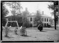 FRONT (NORTH) AND WEST WING - Governor Samuel Pickens House, State Route 14, Sawyerville, Hale County, AL HABS ALA,33-SAWV.V,1-3.tif