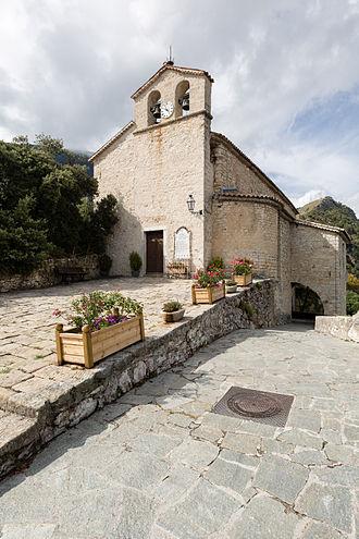 Bairols - The facade of the Church