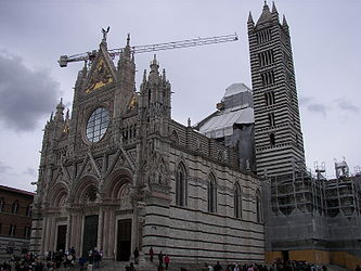 Facade and tower of the Siena Cathedral 2.jpg