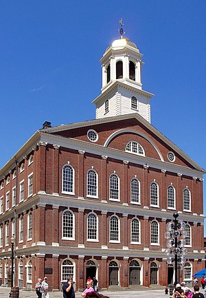 Town meeting - Faneuil Hall in Boston