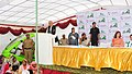 Farooq Abdullah addressing at the launch of the programme to provide environment friendly electric rickshaws to economically backward women, in New Delhi on September 06, 2012.jpg