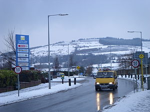 2009 in Ireland - Extreme weather occurred across Ireland in February (Pictured: Ballycullen Road near Tallaght on 3 February).