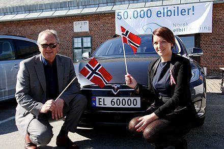 hvor mange elbiler i norge