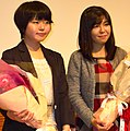 Female SHOGI Professional Momoko Kato(left) Sae Ito(right).jpg