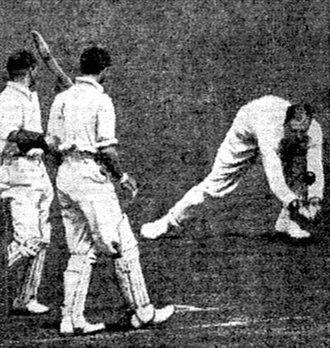 Percy Fender - Fender fielding in 1922
