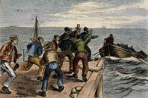 Catalpa rescue - Fenians escape by whaleboat to the Catalpa