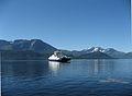 Ferge over Storfjorden, Norge. Sunnmorsalpene i bakgrunnen., Eivind Saetre.jpg
